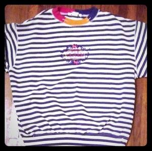 Longsleeve Striped Womens Pull Over The Limited M